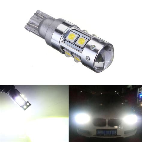 white 50w cree t10 led bulb car wedge signal light