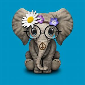 Flower Chart In English Cute Baby Elephant Hippie Baby Elephant T Shirt