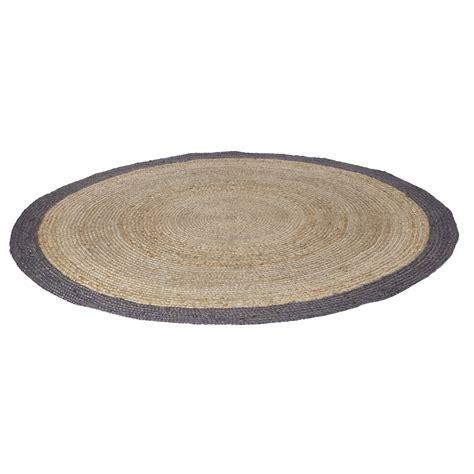 vloerkleed rond 180 cm woood vloerkleed sisal naturel met grijze rand rond 200 cm