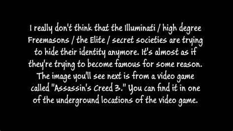 Assassins Creed Illuminati by Assassin S Creed 3 Illuminati Symbolism