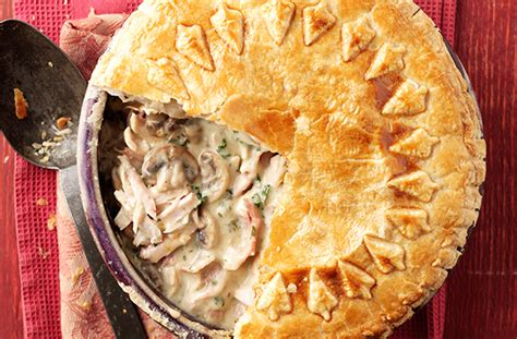 chicken mushroom  bacon pie recipe goodtoknow