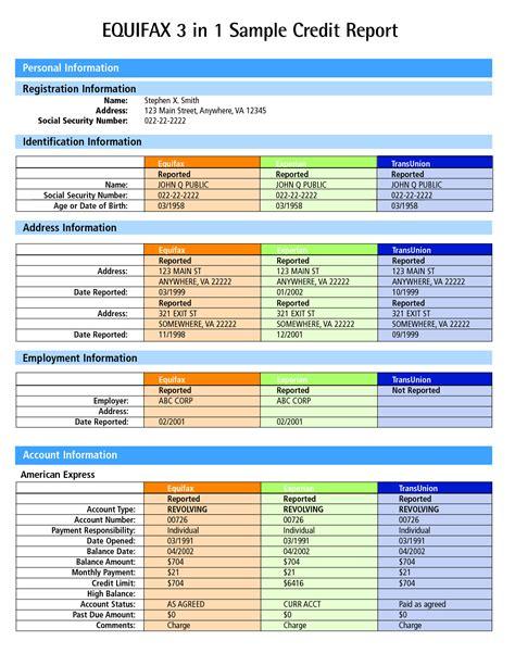 equifax credit bureau credit report sle equifax credit report pdf credit