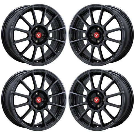 Fiat Abarth Wheels by 17 Quot Fiat 500 Abarth Black Chrome Wheels Rims Factory Oem