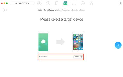 send files from android to iphone easily to transfer files from htc to iphone with one click