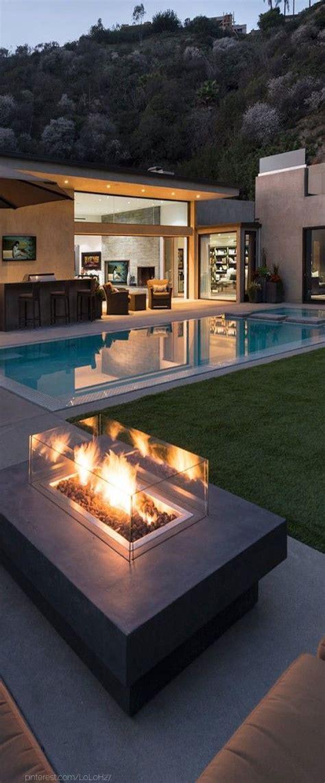 fire fire pits  pools  pinterest
