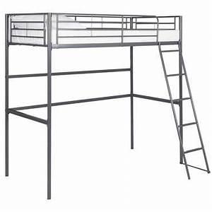 Lit En Hauteur Conforama : lit mezzanine 90x190 cm gris new line vente de lit enfant conforama ~ Farleysfitness.com Idées de Décoration