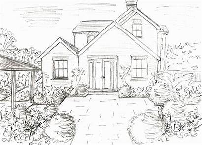 Elevation Drawings Garden Drawing Sketch Draw Gardens