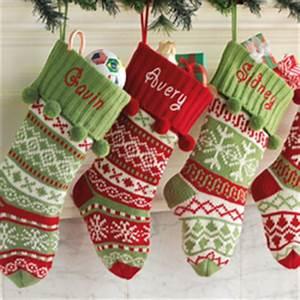 Personalized Knit Argyle Snowflake Stocking FindGift