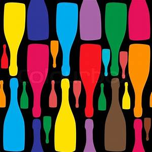 Vector background with bottles Good for restaurant or bar