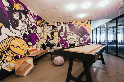awesome mural  game room  wework south station