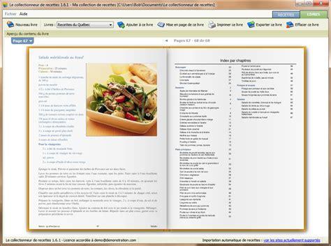 exemple de recette de cuisine le collectionneur de recettes logiciel de recettes et