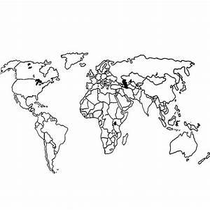 Carte Du Monde Design : carte du monde dessin simple my blog ~ Teatrodelosmanantiales.com Idées de Décoration