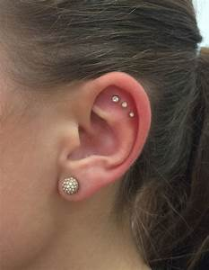 Found a new piercing I want to get now: Triple outer conch ...