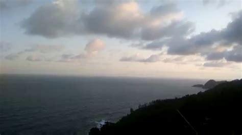 background video pemandangan gunung  lautan youtube