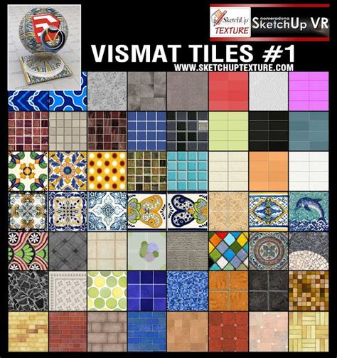 sketchup texture v ray for su vismat tiles collection 1