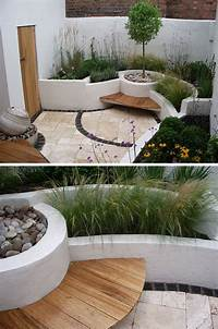 excellent patio decor ideas ideas 10 Excellent Examples Of Built-In Concrete Planters | CONTEMPORIST