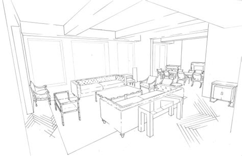 living room  drawing