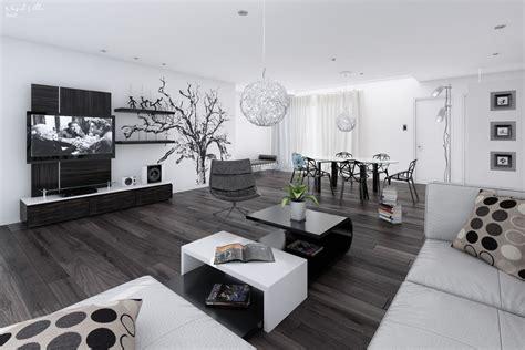 white home interiors 14 black and white living dining room interior design ideas