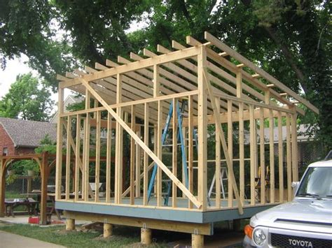 Slant Roof Shed Plans by Shed Style Roof With Clerestory Windows For The Garage
