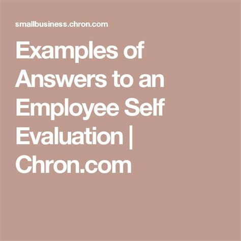examples  answers   employee  evaluation