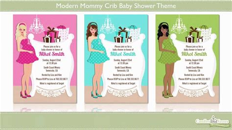 modern crib baby shower theme showcase