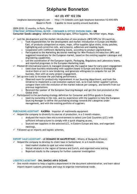 resume exle retail buyer resume sle retail buyer