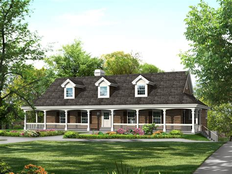 decorative one story wrap around porch house plans cochepark manor country home plan 007d 0235 house plans