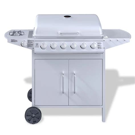 stainless steel gas grills vidaxl co uk stainless steel gas barbecue bbq grill 6
