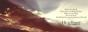 Jesus is Risen Clouds Quote Facebook Covers