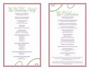Wedding Itinerary Templates Free Reception Programs ...