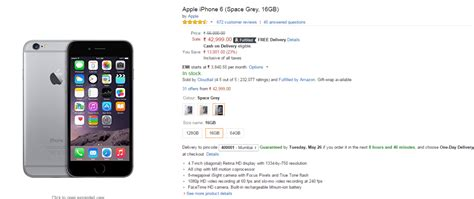 iphone 6 16gb price iphone 6 offers snapdeal flipkart give