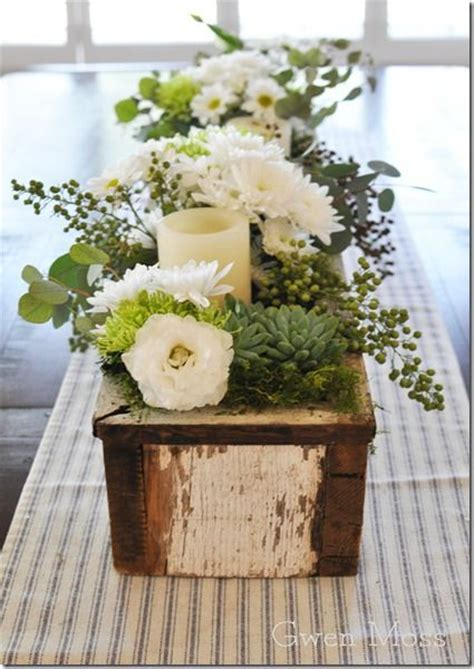terrific flower centerpieces for dining table decorating 1000 images about wood centerpiece box on pinterest