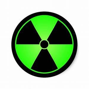 Green Radiation Symbol Sticker | Zazzle