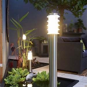 eclairage exterieur luminaire jardin led leroy merlin With carrelage adhesif salle de bain avec lampe led d ambiance