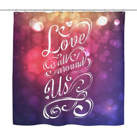 love     love quotes shower curtain good