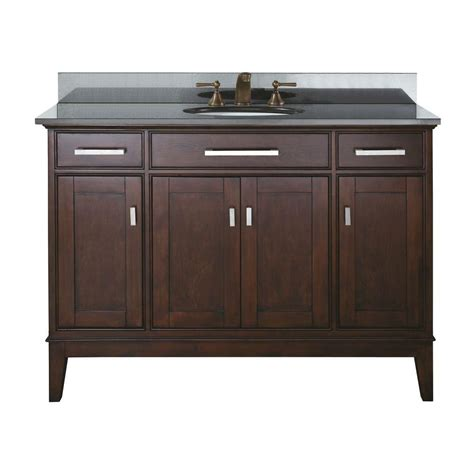 48 Inch Sink Vanity Canada by Avanity 48 Inch W Vanity In Light Espresso Finish