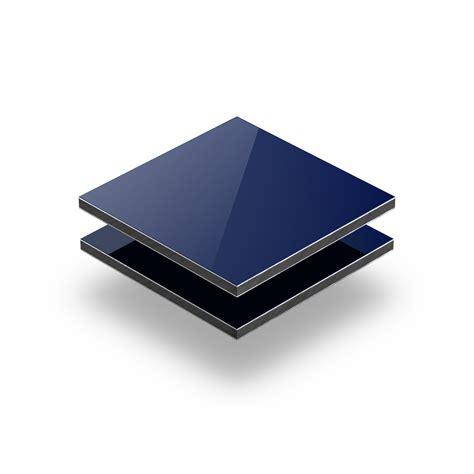 panneau composite aluminium 3mm bleu plaqueplastique fr