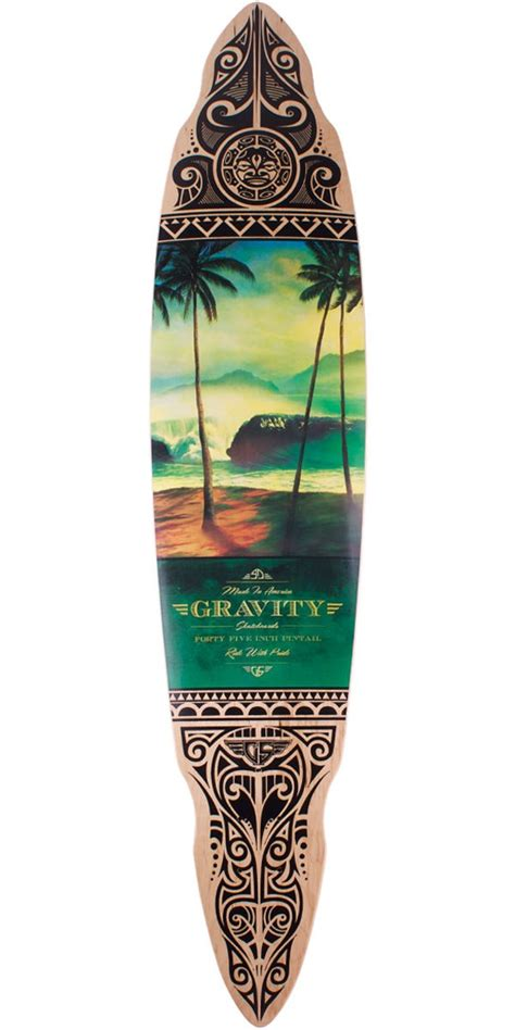 Pintail Longboard Deck Only by Gravity Tres Palmas 45 Quot Pintail Longboard Skateboard Deck