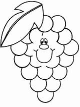 Coloring Pages Fruit Grape Advertisement Grapes sketch template
