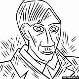 Picasso Portrait Self Pablo Famous Coloring Paintings Portraits Colorir Painting Thecolor Obras από αποθηκεύτηκε Salvo sketch template