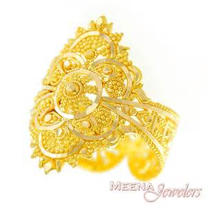 indian engagement rings gold indian filigree ring rilg2919 22kt gold ring indian bridal ring with beautiful