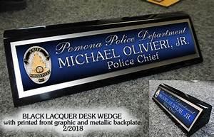 Custom Desk Name Plates Police - Ayresmarcus