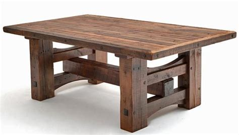 heavy timber framed table base wood works