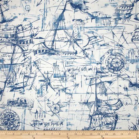 Nautical Upholstery by Premier Prints Schooner Nautical Discount Designer