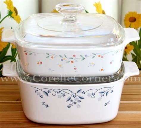 corelle patterns dishes corning ware meadow english common provincial casseroles both kitchen