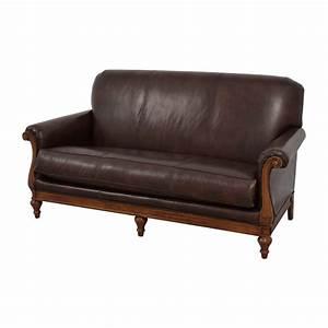 73 off thomasville thomasville mid century leather sofa With thomasville sectional sofa leather