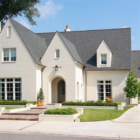 houzz painted brick tudor home design design ideas