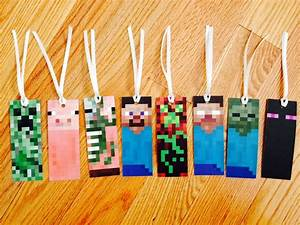 minecraft bookmarks free printable available at http With minecraft bookmark template