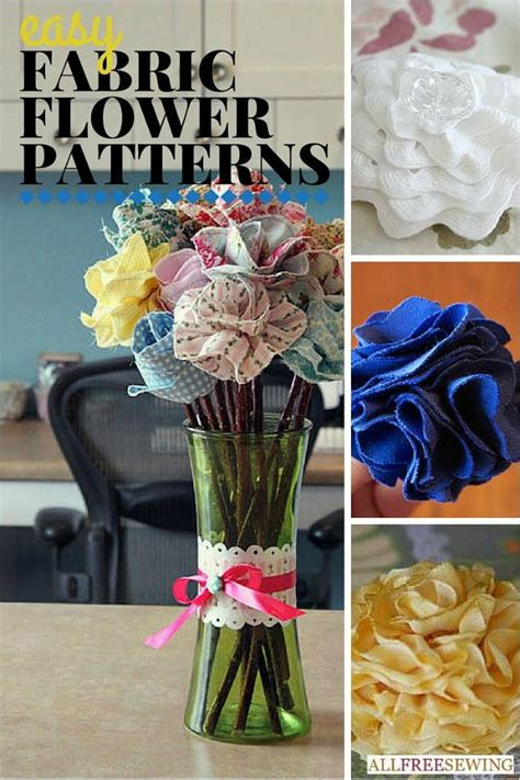 easy fabric flower patterns allfreesewingcom