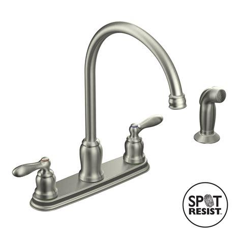 moen kitchen faucet shop moen caldwell spot resist stainless 2 handle high arc